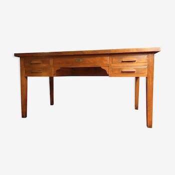 The 1950s massive wooden desk