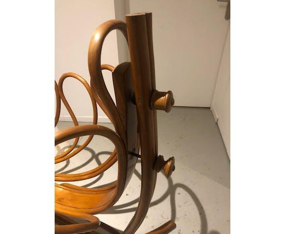 Berceau art nouveau en bois courbé, J&J Kohn, autour de 1900