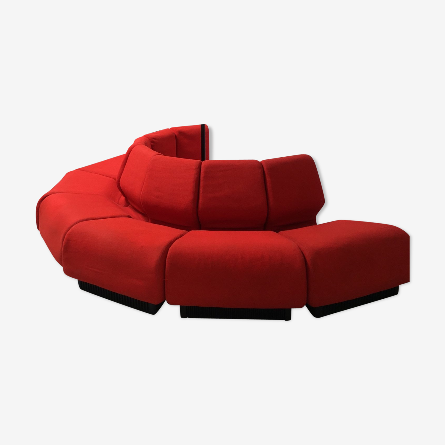 Canapé modulaire rouge par Don Chadwick pour Herman Miller