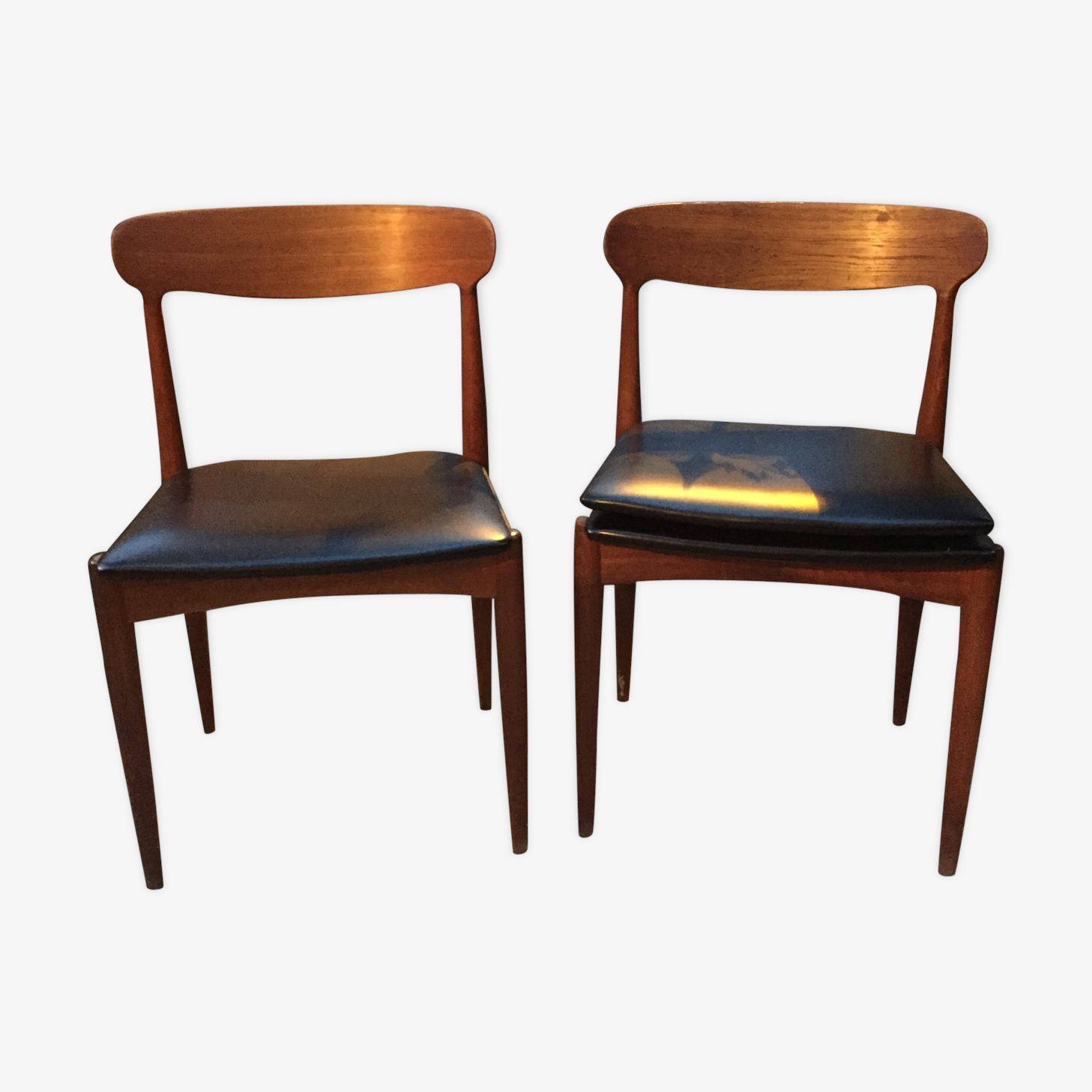 Suite de deux chaises scandinaves