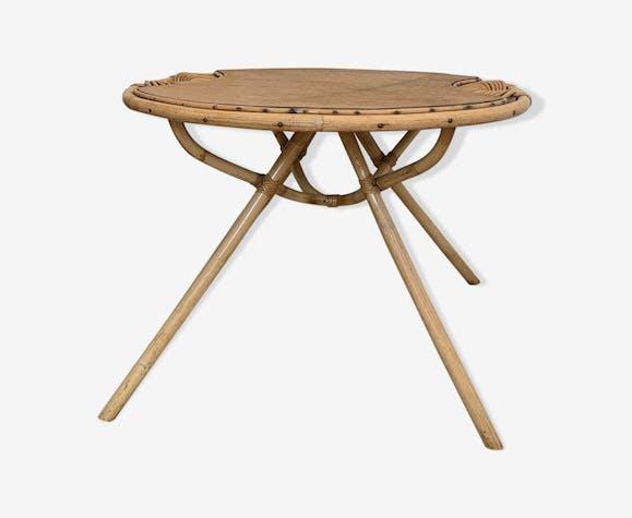Table rotin années 60