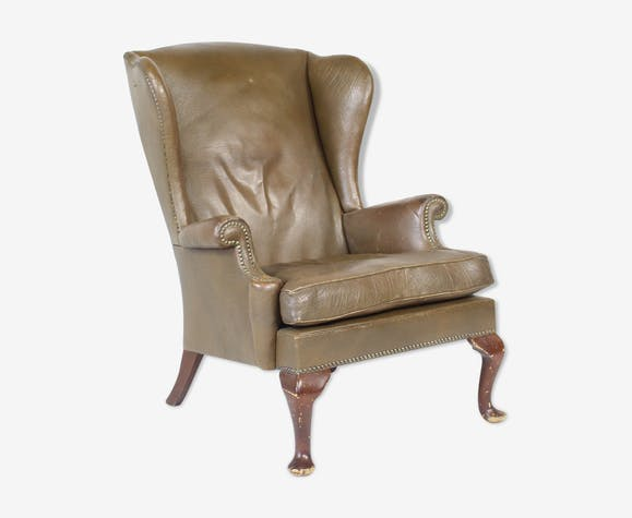 Vintage leather lounge chair from Parker Knoll