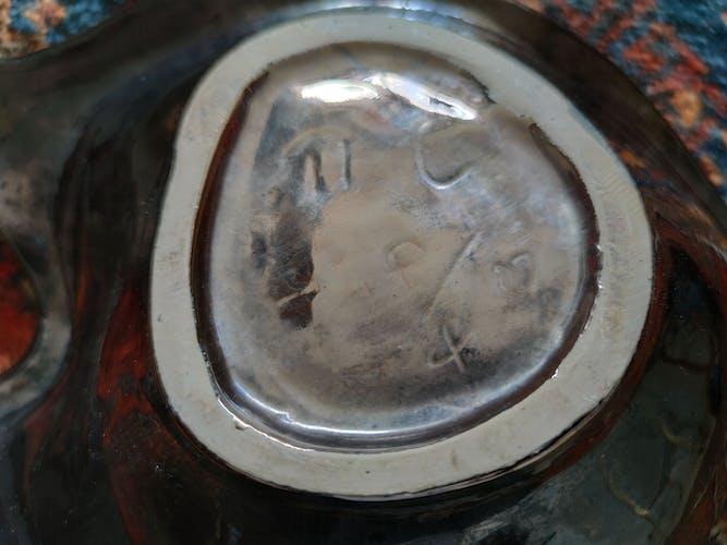 Plat-coupe en céramique vintage