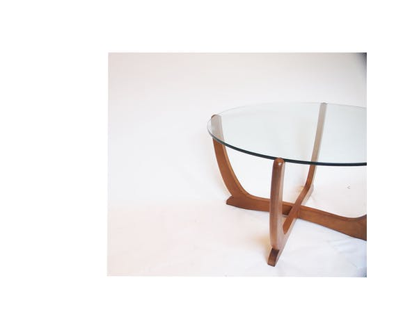 Scandinavian round coffee table