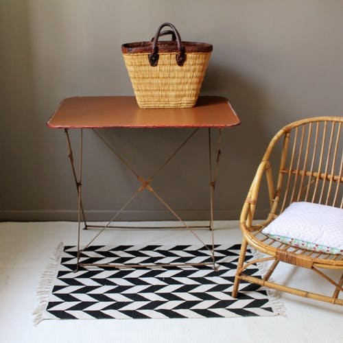 Table de jardin pliante vintage
