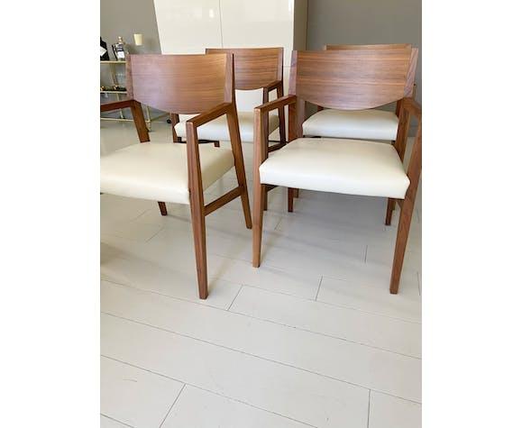 Lot de 4 fauteuils Brera Natuzzi