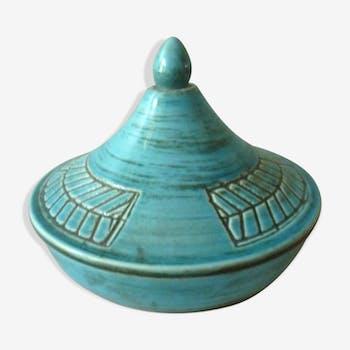 Bonbonnière, pot couvert en céramique Poterie Périgordine des années 50