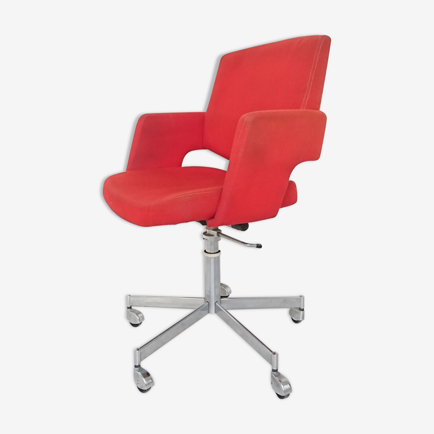Red office armchair