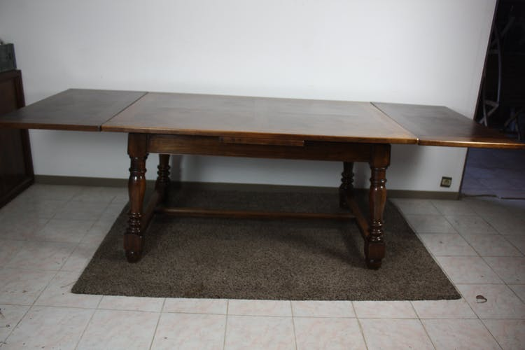 Table de ferme ancienne noyer a allonges