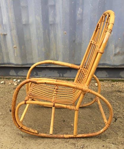 Rocking chair pour enfant années 60