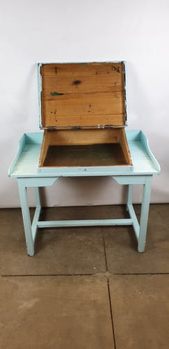 Bureau ancien pupitre bleu