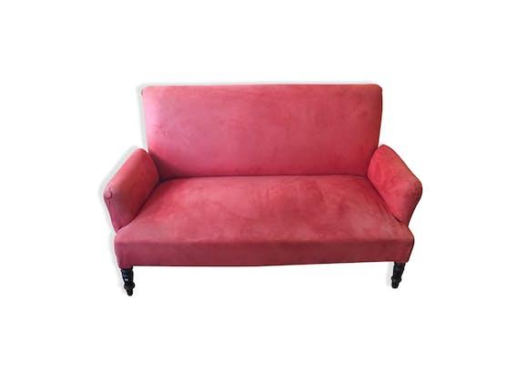 Canapé Napoléon III - tissu - rose - classique - MED4bT6