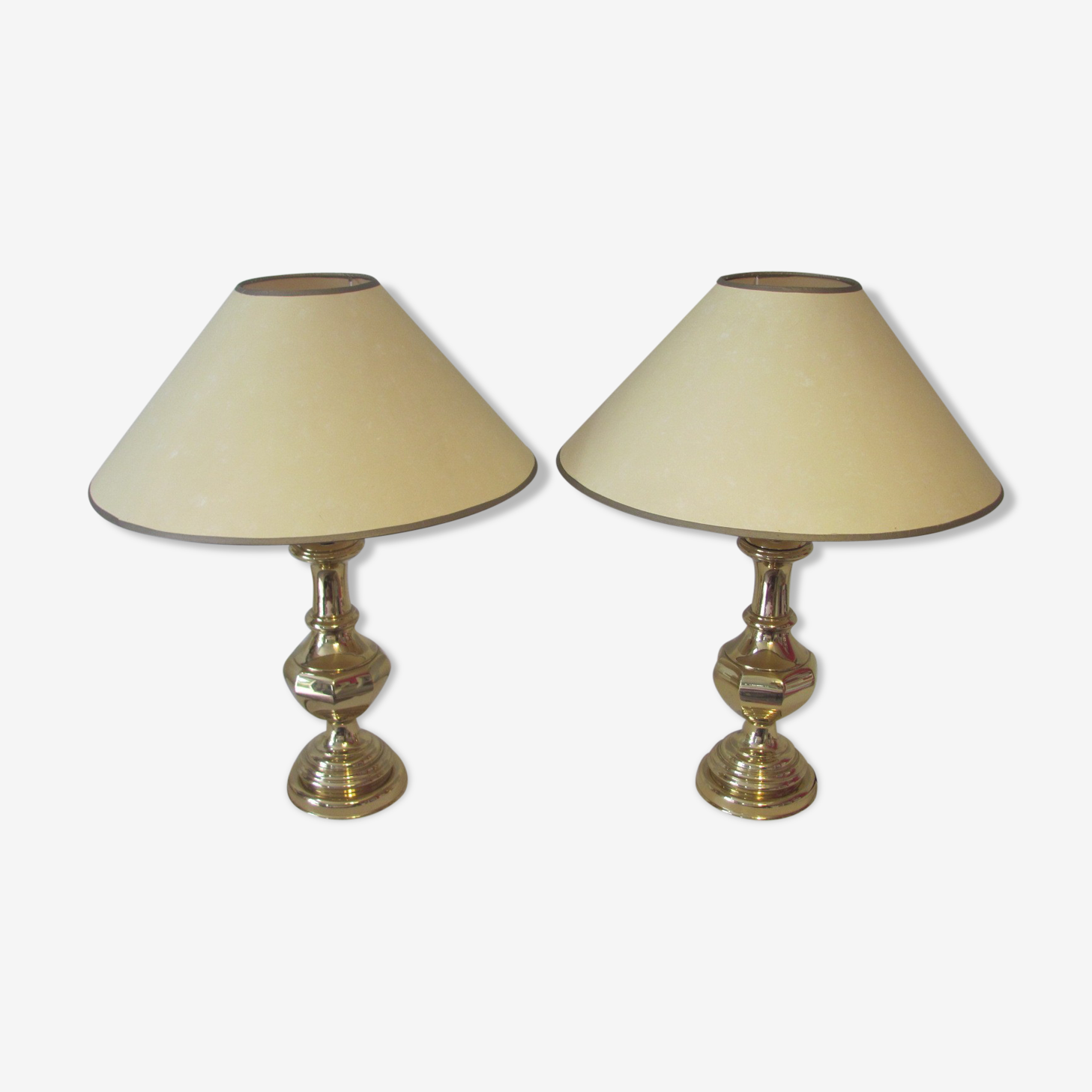 Pair of lamps to ask  shabby chic gold