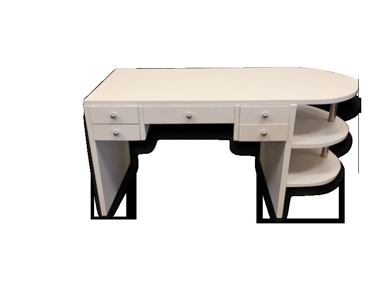 Bureau blanc art deco bois matériau blanc art déco