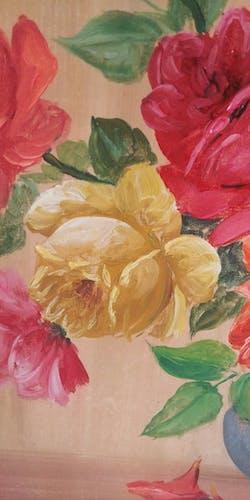 Nature morte au bouquet de roses