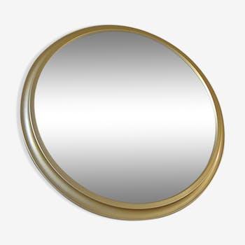 Miroir Pierre Vandel en aluminium doré 60 x 60 cm