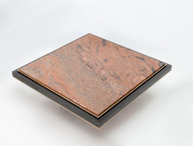 Table à café en marbre chrome Belgo années 1970