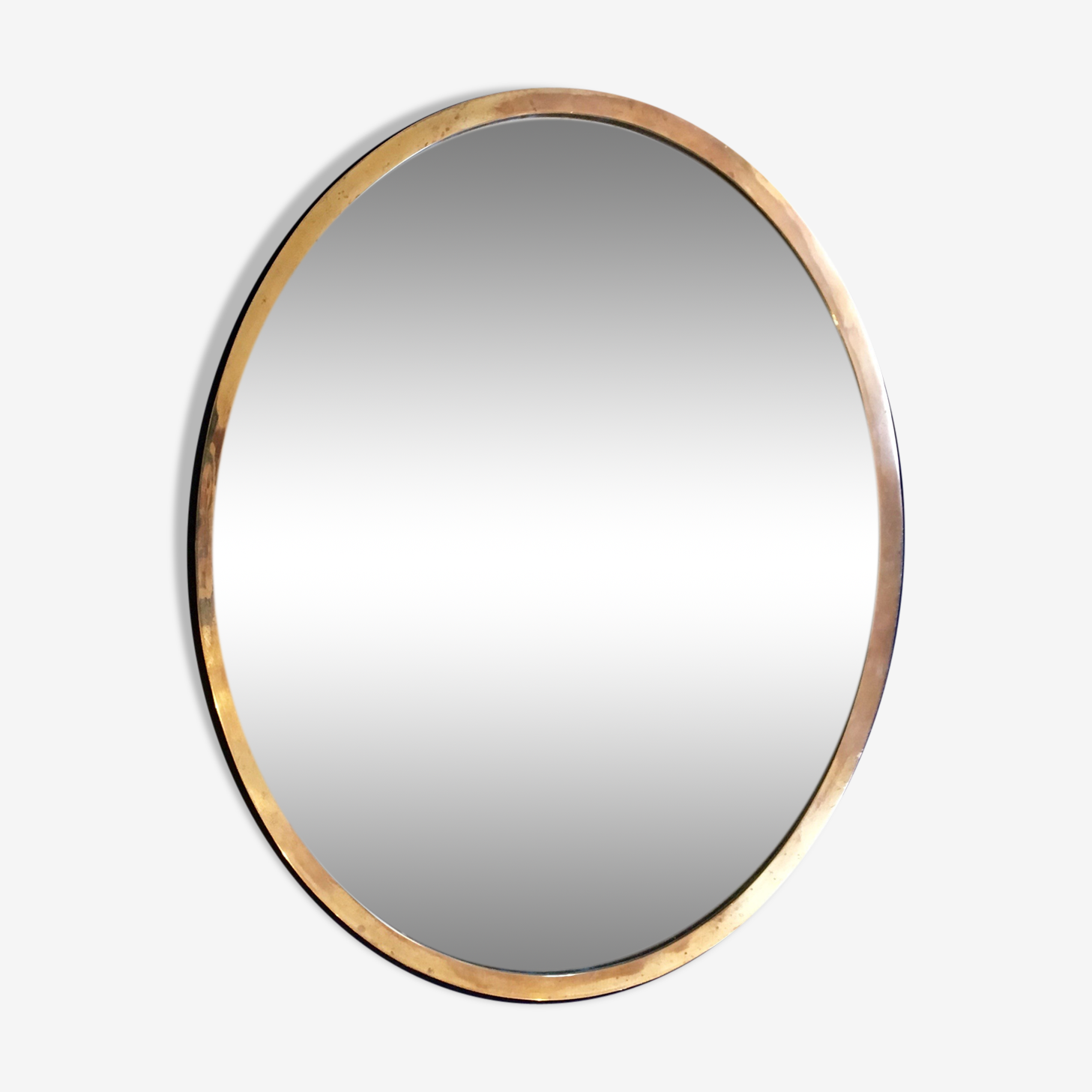 Miroir en laiton Italie années 60 56x71cm