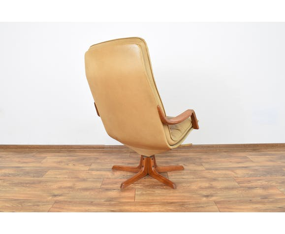 Mid Century Office Chair With Ottoman From Berg Furniture 1970s Selency