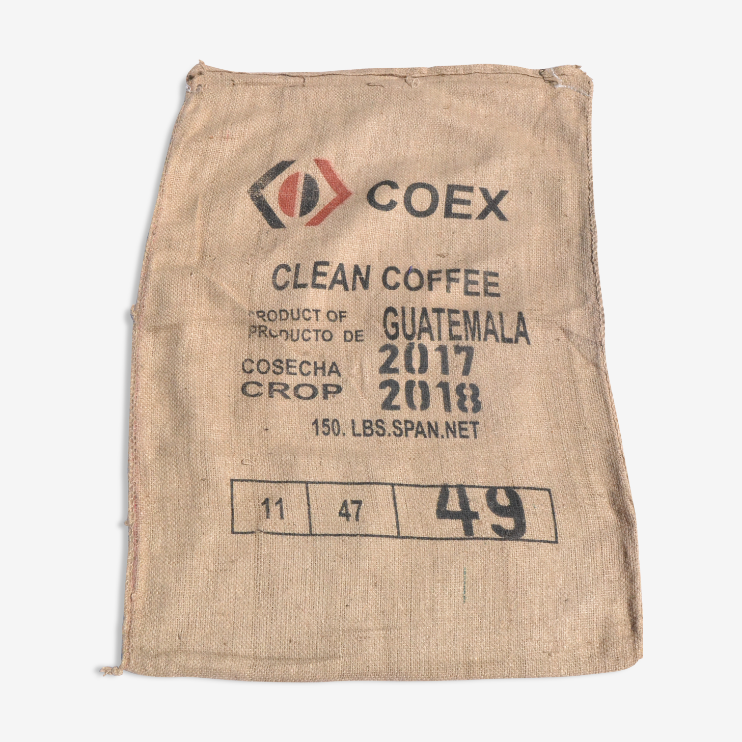 Sac en  jute de café vintage