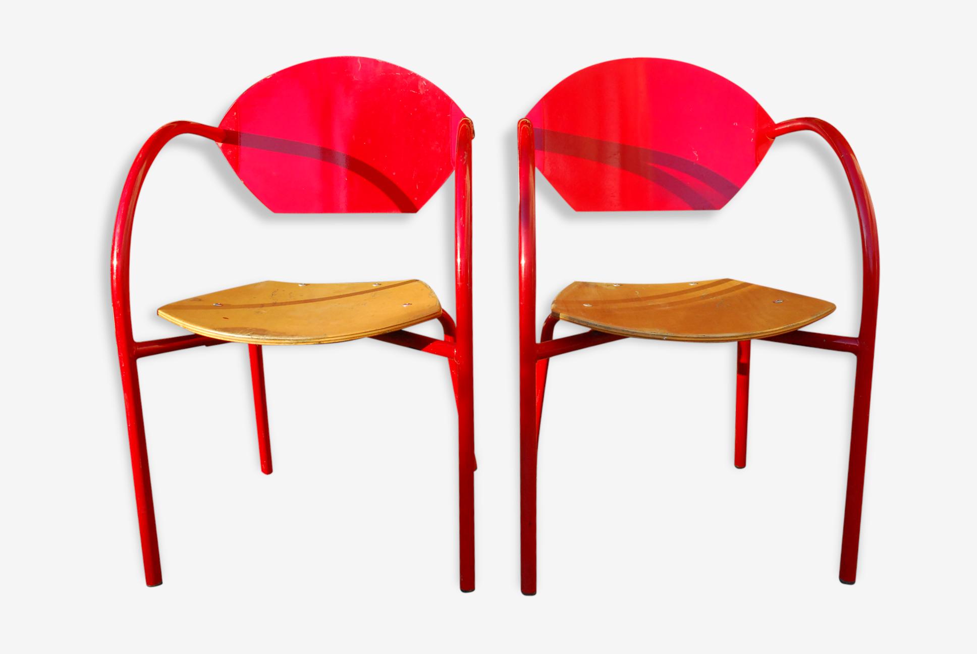 Paire de chaises de bistrot adico modèle capa