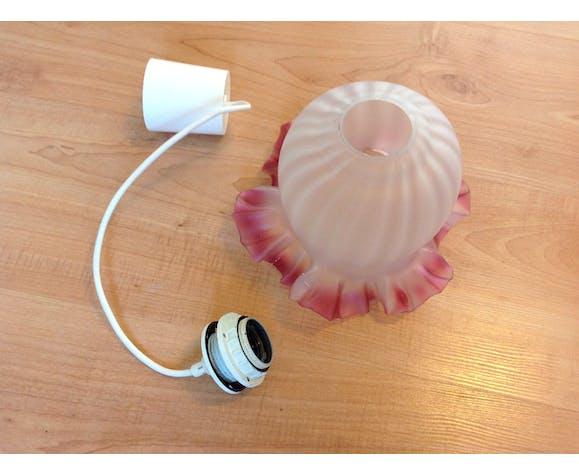 Baladeuse cloche en verre opaque vintage années 60-70