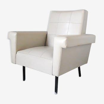 White skai armchair