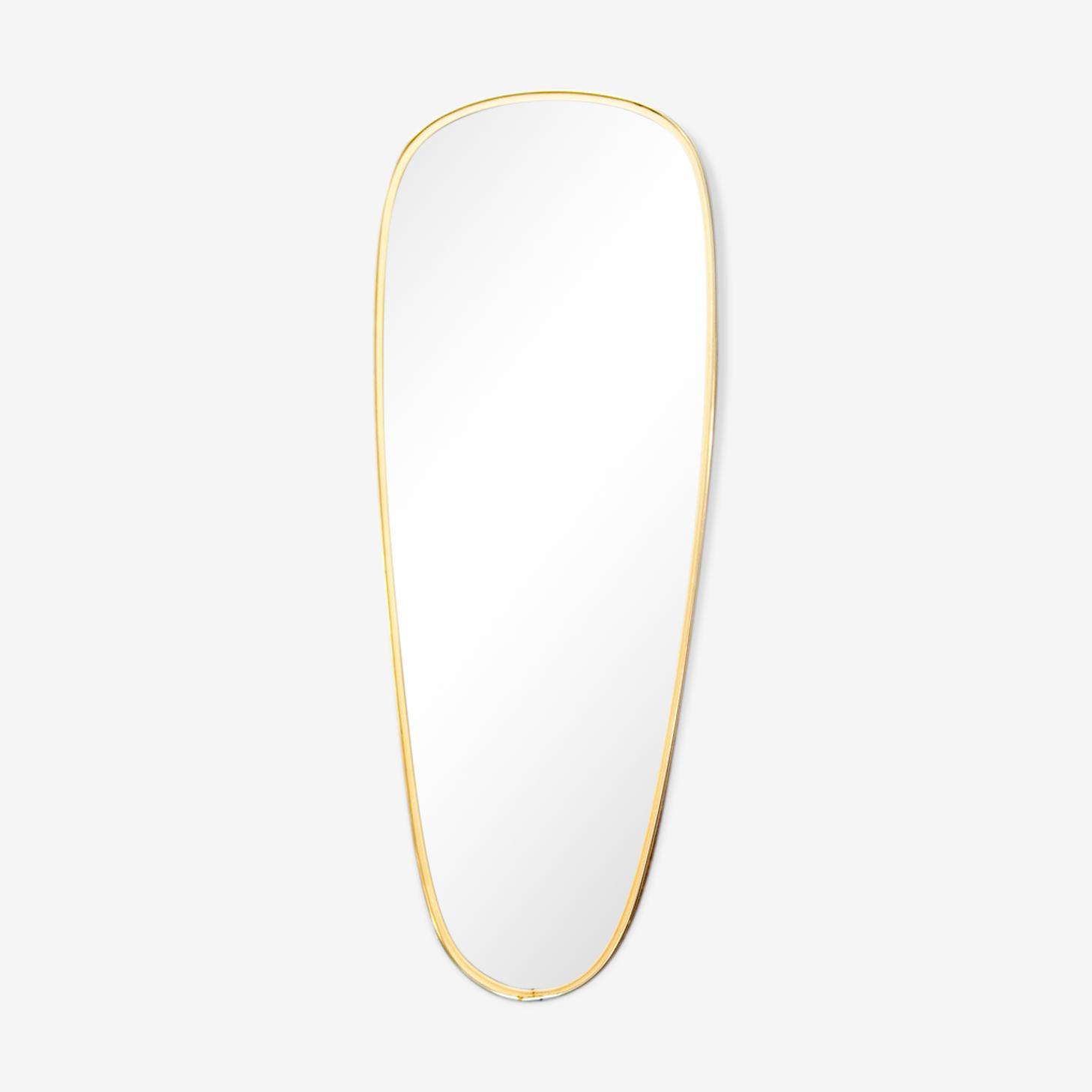 Miroir en laiton doré 78 x 30 cm