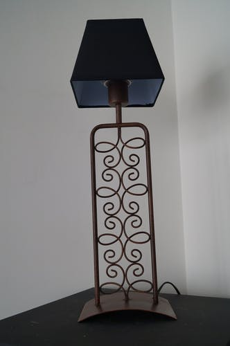 Lampe en fer forgé 1980
