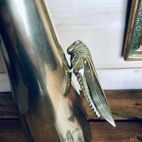 Solifore en bronze avec cigale Chine XIXè s