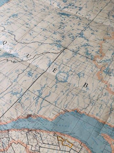 Carte ancienne du Québec