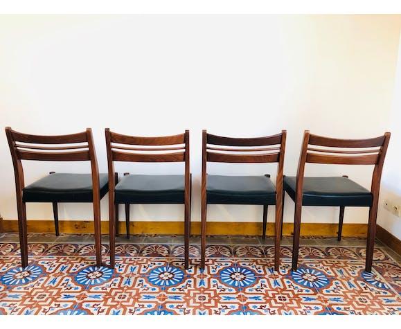 Set de 4 chaises scandinave en teck 1960