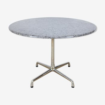 Table by Ray & Charles Eames for Vitra, mounted on a granite top