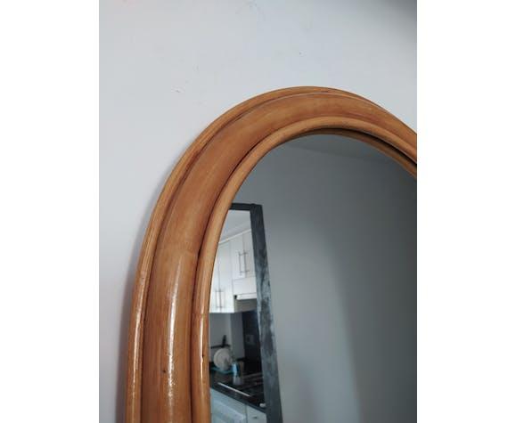 Miroir en bambou vintage 58x80cm