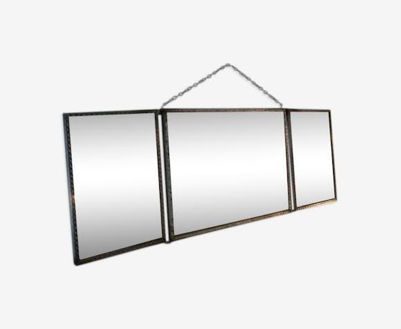 Miroir triptyque rectangulaire 41x15cm