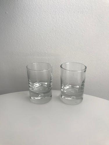 Lot de 6 verres à liqueur ou verrines Durobor - modèle Disco