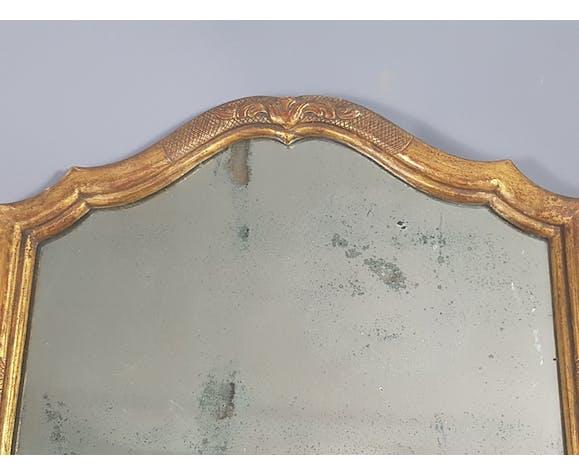 Ancien miroir avec cadre ancien chantourné