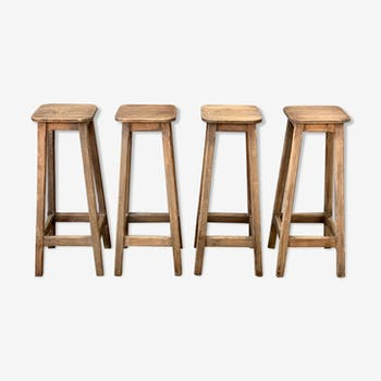 Lot of four stools 1950