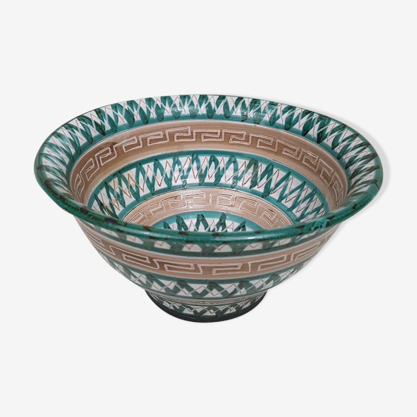 Robert Picault Vallauris ceramic bowl