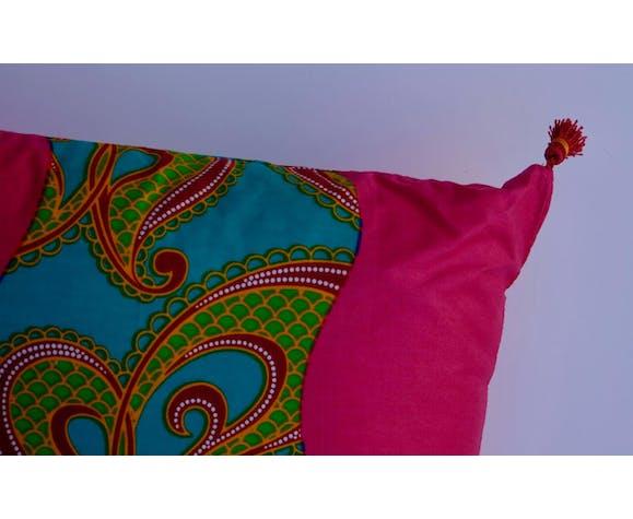 Coussin en tissu wax africain  entièrement déhoussable