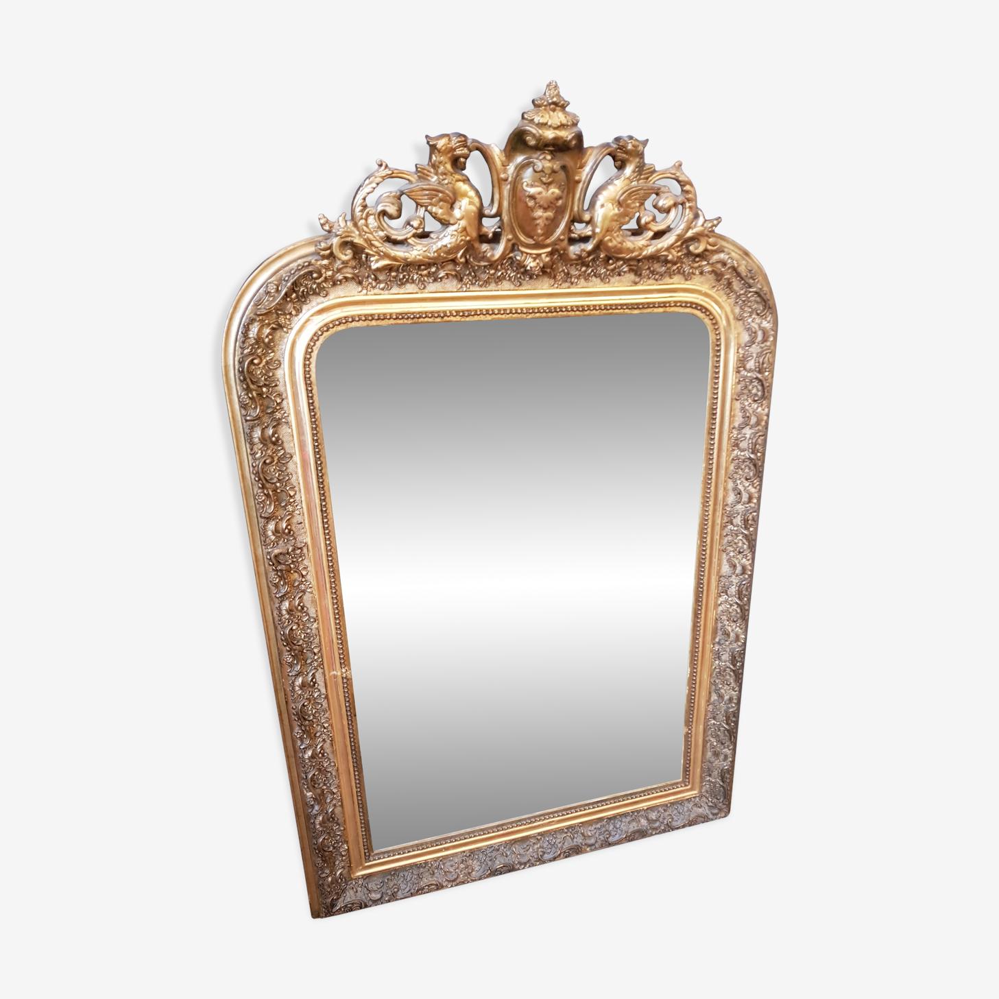 Miroir doré 78x122cm