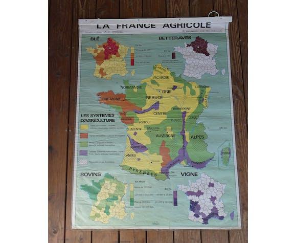 "School map  ""La France Agricole"""