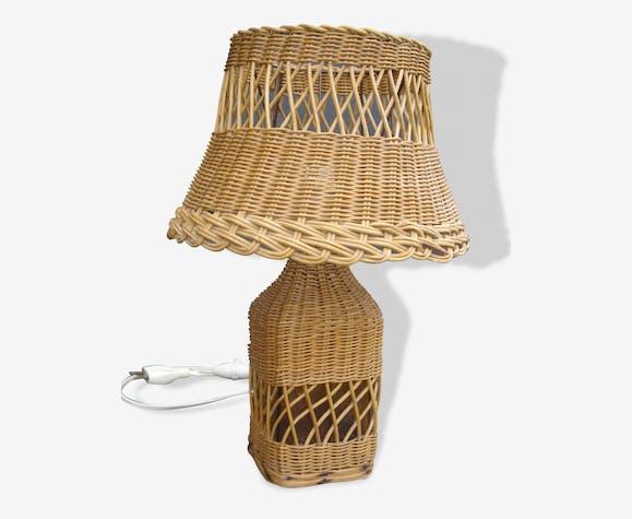 Lampe vintage en osier