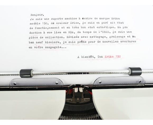 Machine à écrire Erika 150 vintage collector révisée ruban neuf