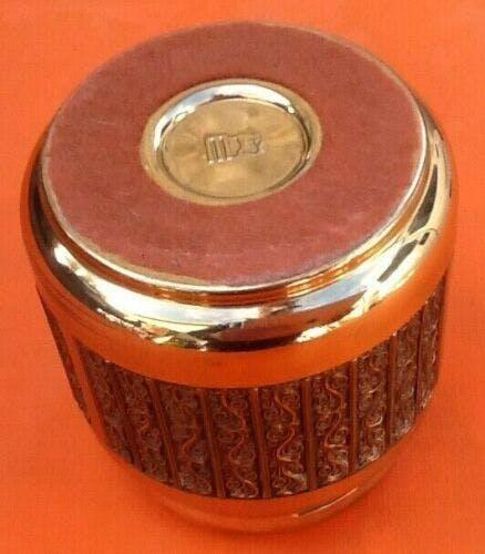 Distributeur porte-cigarettes des années 60 en laiton avec décor relief
