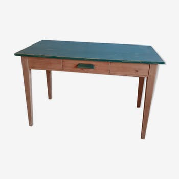 Blue-green patinated desk