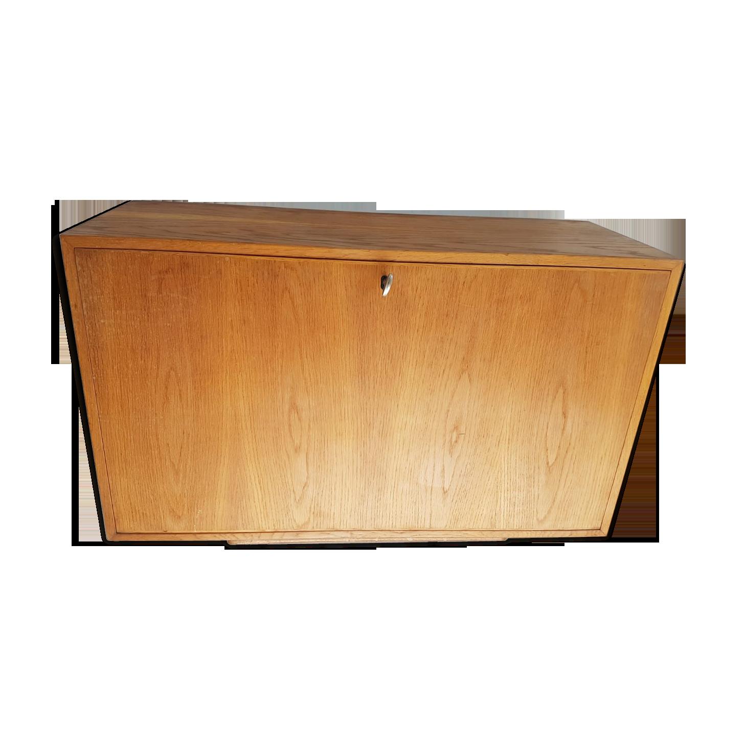 But petit rangement cuisine meuble bois suspendu blanc osier