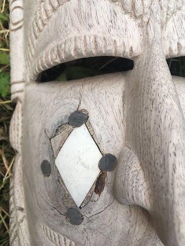 Tête africaine en bois