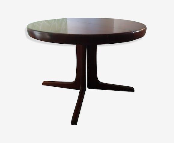 Table ronde extensible danoise sur pied central ...