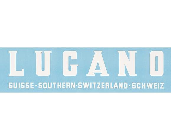 Affiche ancienne Lugano, Suisse
